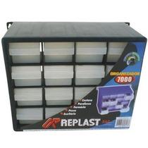 Gaveteiro Organizador Plastico 16 Gavetas - Kit 10 Unidades