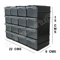 Caixa Gaveteiro Plástico Organizador Multiuso Com 16 Gavetas