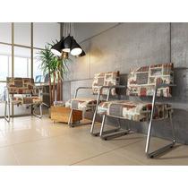 Poltrona Lunna Cadeira Decorativa Cozinha Sofa Sala Cromada