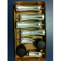 Pé De Aluminio Kit De Solteiro Para Cama Box