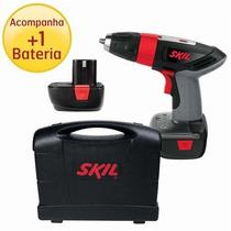Furadeira Parafusadeira 9,6 V 2 Baterias + Maleta Skil 110v