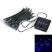 Luz Solar De Led Azul Para Decoração De Natal,