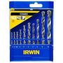 Jogo De Brocas Metal/concreto - Irwin 10 Peças 891528