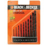 Kit Jogo De Broca Black And Decker Aco Rapido Forjado Com 10