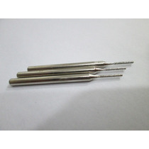 3 Fresa Broca Cilindrica 1mm Diamantada Thk Dremel Retifica