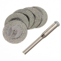 Kit 5 Discos De Diamante 20mm X 0,56mm P/ Dremel Ou Similar
