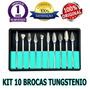 Kit 10 Brocas Odontologica Tungstênio Prótese Dentária Fresa