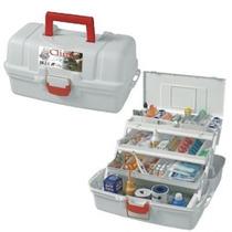 Caixa Plástica/maleta Para Ferramentas Medicamentos 3 Bandej