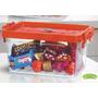 Pote Container Plástico 1800ml 05 Pçs Organizador Mantimento