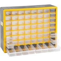 Organizador Gaveteiro Plástico Com 64 Gavetas Vonder