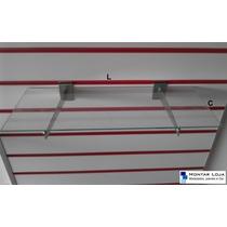 1 Prateleira Vidro Painel Canaletado + 2 Suporte Faca (50x30