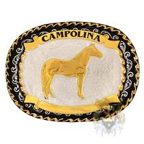 Fivela Campolina Banho Dourado Prata - Sumetal 4779