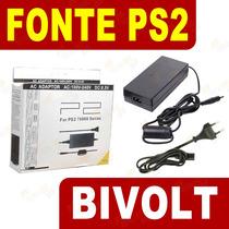 Fonte Playstation 2 Bivolt Ps2 Play 2 Slim + Cabo Força