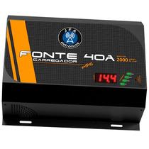 Fonte Carregador Bateria Jfa 40a Com Voltimetro Mantem 2000w