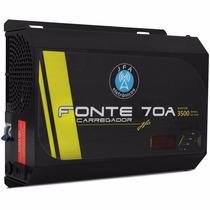 Fonte Carregador Bateria Jfa 70a Com Voltimetro Mantem 3500w