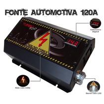 Fonte Automotiva Sound Force 120a Voltímetro + Frete Grátis