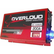 Fonte Automotiva Overloud 200 A Bivolt Carreg. Bateria Som