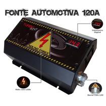 Fonte Automotiva Sound Force 120a Voltímetro