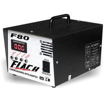 Flach F80 Fonte Carregador De Baterias Digital Automático