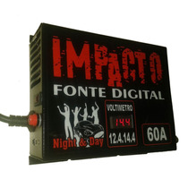 Fonte Automotiva Impacto 60 Amperes 14,4v C/voltimetro