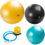 Kit 3 Bolas Gym Ball 55, 65 E 75cm Pilates Inflador Mormaii