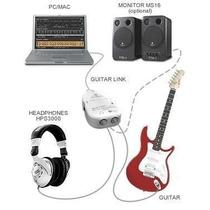 Interface Guitar Link Usb 24 Bits Conecte Sua Guitarra No Pc