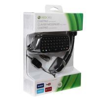 Chatpad Headset Xbox 360 Teclado + Fone De Ouvido Original