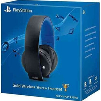 Headset Gold 7.1 Wireless Stereo Sony Ps3 Ps4 Ps Vita Pc