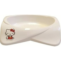 Comedouro Para Gato Hello Kitty Branco 250ml