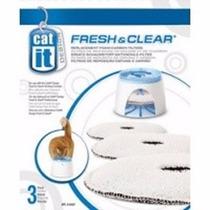 Refil Fonte Para Gatos Cat It Pequena Pacote Com 3 Unidades