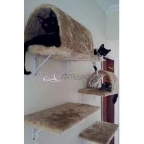 Prateleira Com Toca Para Gatos