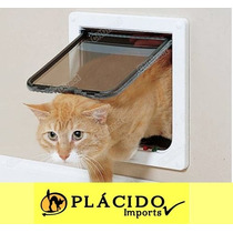Porta Sistema 4 X 1 Controla Fluxo Gato/cachorro Tam M Branc