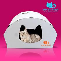 Arranhador Para Gatos+toca+brinquedo+catnip (erva Do Gato)