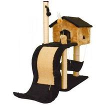Arranhador Para Gato Casa Com Tobogã / House Casinha