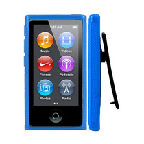 Capa Ipod Nano 7 Com Clipe Azul + Película + Frete Grátis