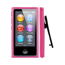 Capa Ipod Nano 7 Com Clipe Rosa + Película + Frete Grátis