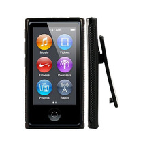Capa Ipod Nano 7 Com Clipe Cor Preta + Película Protetora