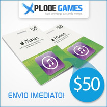Itunes Gift Card $50 - Cartão Itunes $50 - Ipod Iphone Ipad