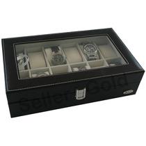 Maleta Estojo Porta Relógio 12 Casulos 12x S/ Juros