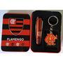 Chaveiro + Chaves Tesoura Time Flamengo Rubro Negro Jovem