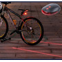 Luz De Bike Ciclovia Laser Azul 7 Modos De Iluminação