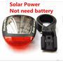 Luz De Segurança Bike Lanterna Traseira Solar Vermelha