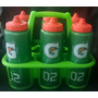 Kit 06 Squeezes Gatorade +suporte Verde