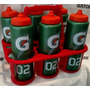 Kit 06 Squeezes Gatorade G02 Profissional + Suporte