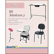 Kit Manicure 3 - Cir. Manicure + Suporte + Mesa + Cadeira