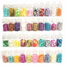 10 Vidrinhos De Glitter Para Decoração De Unhas E Scrapbook