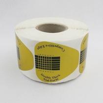 Kit 100 Moldes Adesivos Para Unhas Gel E Porcelana