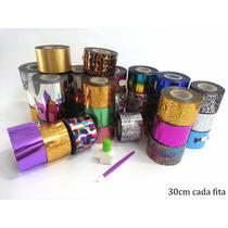 Kit Foil + Cola 3d Unha Acrilico Gel