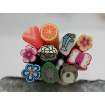 10 Bastoes De Fimo 3d P Decoracao De Unhas. Nail Art. 1567