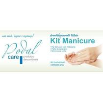 Kit Manicure Descartável C/ Toalha Viscose Pacote C/ 10 Unid